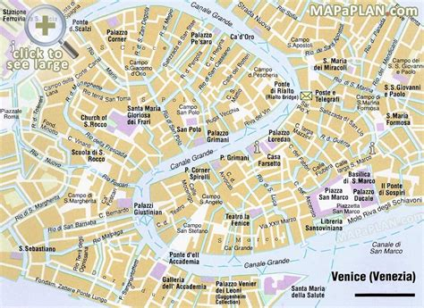 venice map  tourist sights places id