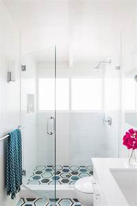Updated, Shower, With, Glass, Door, U0026, White, Subway, Tile