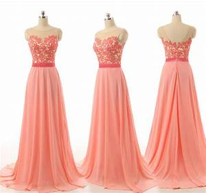 Peach bridesmaid dresses, lace bridesmaid dresses, custom ...