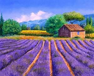 Prix De La Lavande : lavande et tournesols jardin peinture tableau en vente ~ Premium-room.com Idées de Décoration