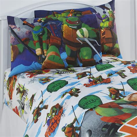 ninja turtle sheets nickelodeon teenage mutant ninja turtles boy s twin sheet set