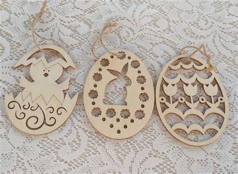 laser cut easter egg ornament  party diy decorations