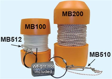 Ocean Rhino Mb200 Marker Buoy Float With 200' Of Line