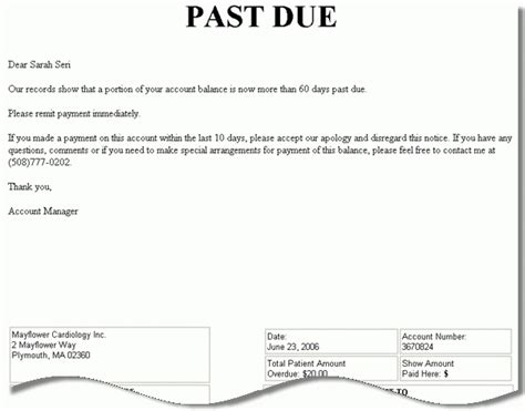 Notice of lien letter template costumepartyrun balance due notice sample gallery download cv letter and altavistaventures Gallery