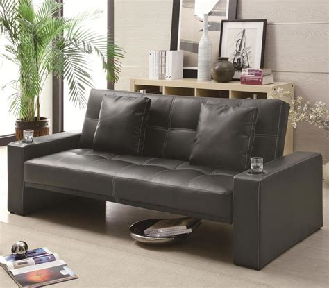 black leather sofa futon black leather sofa bed steal a sofa furniture outlet los