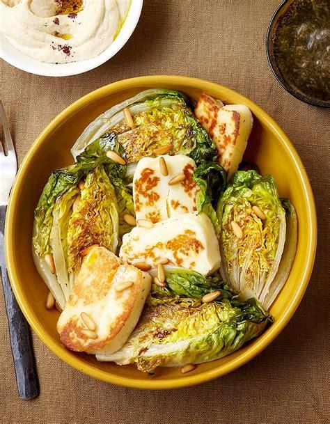 comment cuisiner les courges halloumi et salade grillés pour 4 personnes recettes