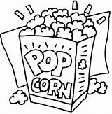 Popcorn Coloring Printable Sheets Colored Changes Popped sketch template