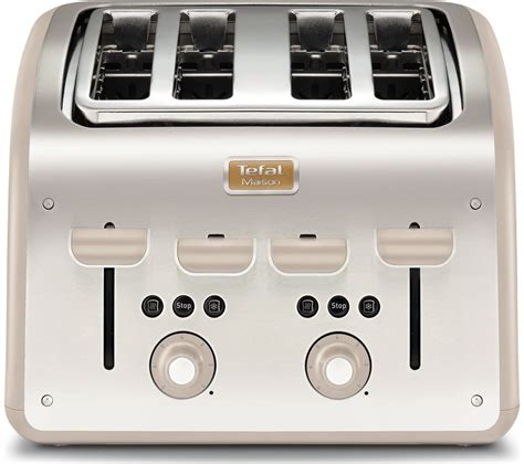 Tefal Toaster by Tefal Maison Tt770auk 4 Slice Toaster Stainless Steel