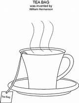 Tea Coloring Bag Printable Cup Template Pdf sketch template