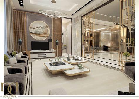 Luxusvilla Innen Wohnzimmer by Luxury Villa Interior Design Dubai Uae