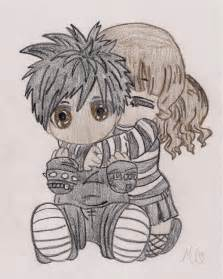 Cute Emo Couple Drawings