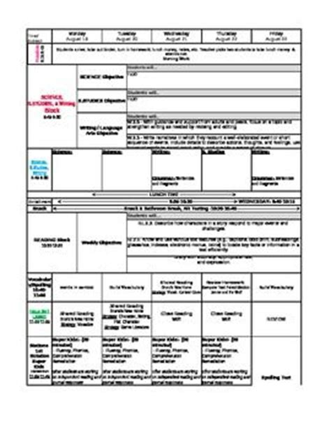 lesson plan template using common standards 134 best common lesson plan templates images on