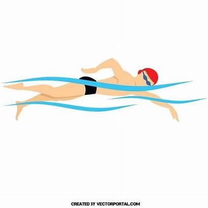 Swimmer Vector Swimming Illustration Vectors Triathlon Illustrations