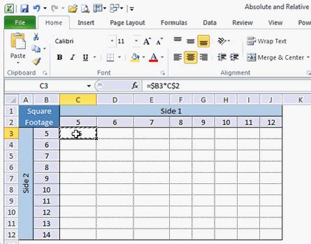 absolute and relative cell references in excel excel