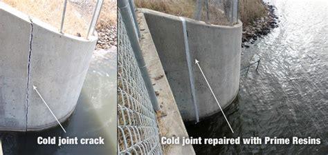 concrete wall repair prime resins repairs concrete bridge cold joint separation