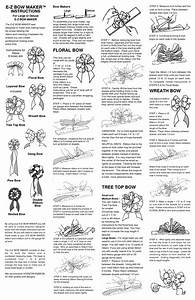 E Z Bow Maker Instructions