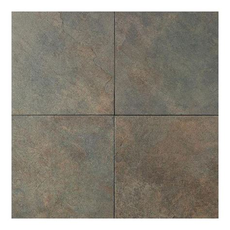 porcelain tile slate daltile continental slate brazilian green 18 in x 18 in porcelain floor and wall tile 18 sq
