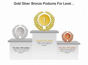 Gold Silver Bronze Podiums For Level Of Importance Of List