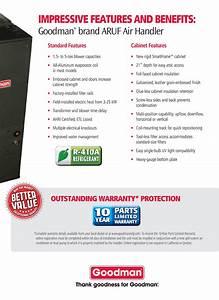 2 5 Ton Goodman Smartframe Central Indoor Air Handler