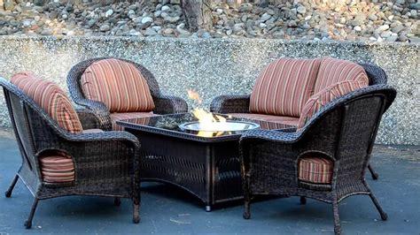 patio furniture fire pit table set naples fire pit table with balsam wicker patio furniture