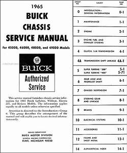 1965 Buick Repair Shop Manual Original
