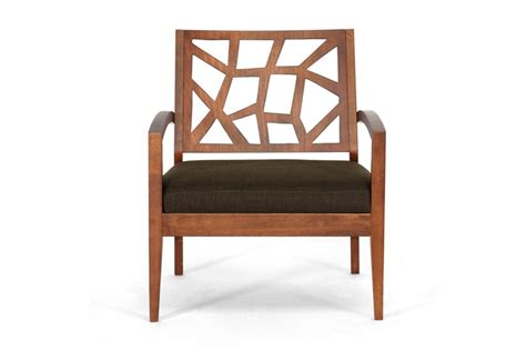 baxton studio brown wood modern lounge chair