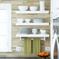 Kitchen Tile Backsplash Open Shelves