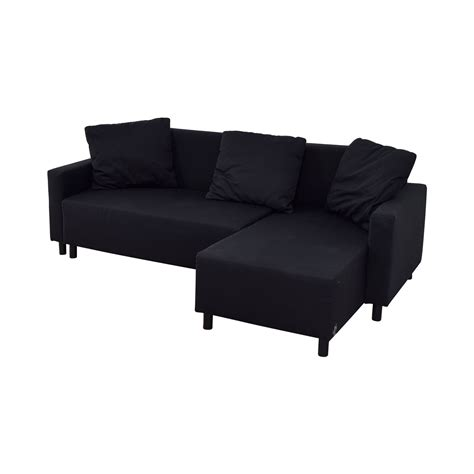 Chaise Sofa Sleeper With Storage by 31 Ikea Ikea Black Sleeper Chaise Sectional With