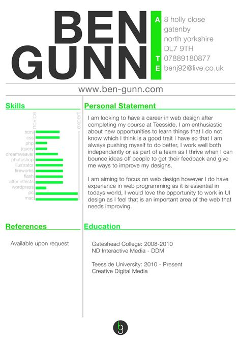 resume templates for web designers free sle resumes