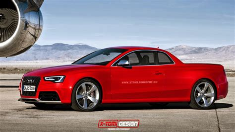 audi pickup truck audi rs5 rendered into a pickup just for fun