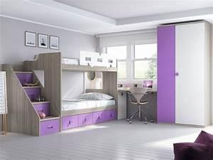 Lit Superposé Escalier : habitaci n juvenil con litera roble n rdico mora y ~ Premium-room.com Idées de Décoration
