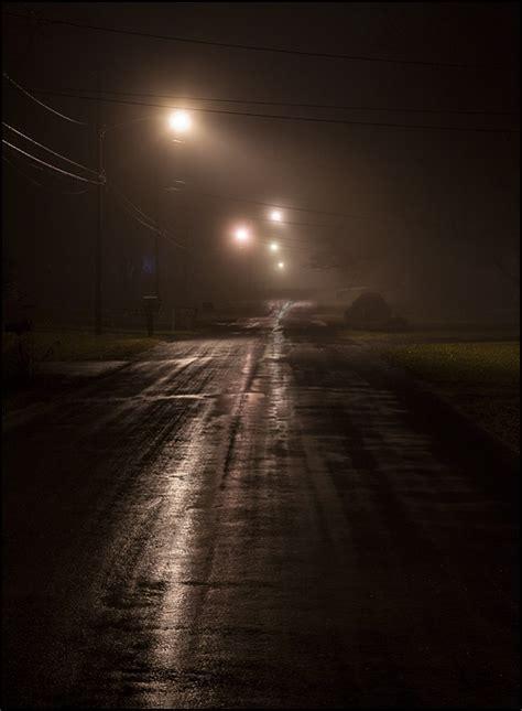 fog  rain   january night photograph