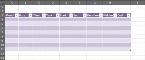 How To Create A Working Timesheet In Excel  Part 2