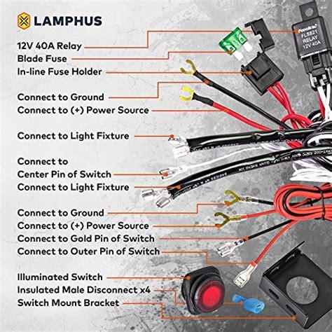 Lamphus Off Road Atv Jeep Led Light Bar Wiring Harness