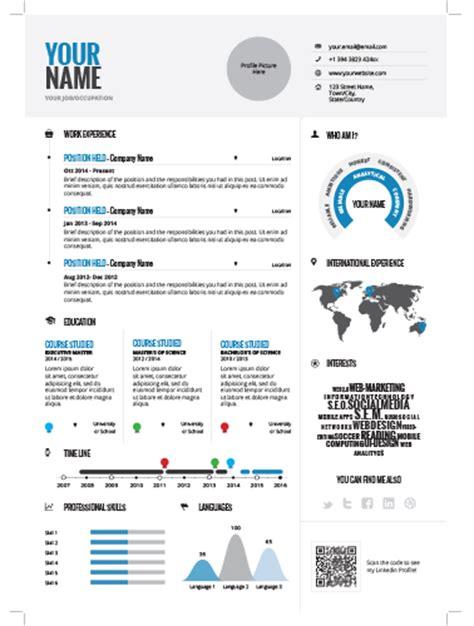 infographic resume 1 cv distribution