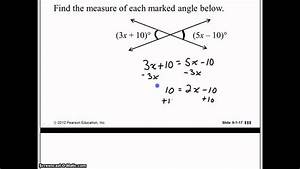 Find The Measure Of Each Marked Angle