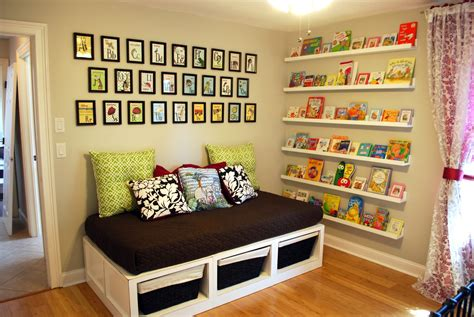 Nursery Room Book Shelves Made Of Wooden In White Color