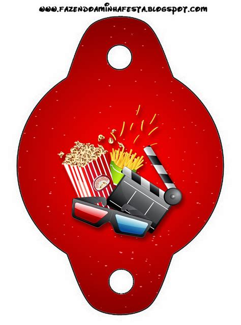 movies party  printables  invitations