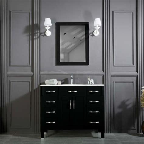 woodbridge 42 inch black bathroom cabinet