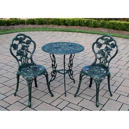 three patio set 3 bistro patio set verdi green walmart