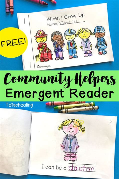 community helpers emergent reader totschooling 484   2302dcf31a06f8e603441ccf7da5a66a