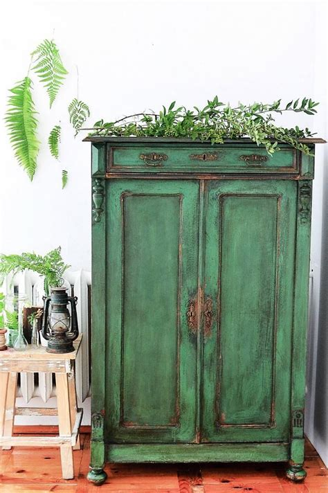 Paint Armoire How To Paint A Cupboard In Green Antique Style Antibes
