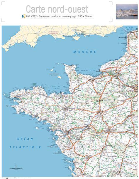 Carte Quart Nord Ouest by Calendriers Bancaire Publicitaires 2012