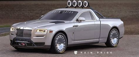 Rolls-royce Ghost Pickup Truck Rendering Is A Huge