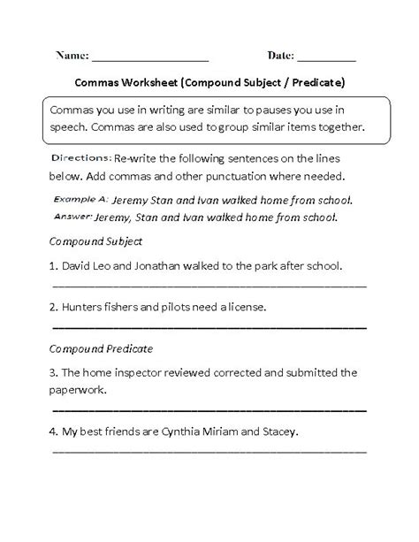 10 best english commas worksheets images on pinterest worksheets frases and grammar