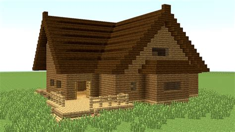 Wooden House In Minecraft - minecraft how to build big wooden house 4
