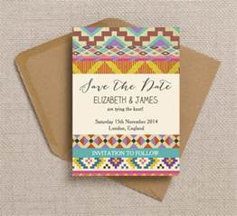 save the date wedding invitations free printable bohemian aztec ikat wedding invitation and