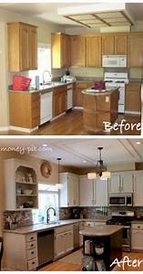 25 best ideas about cheap kitchen makeover on pinterest With best brand of paint for kitchen cabinets with wall art with lights