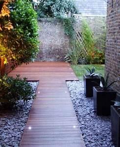 allees de jardin en bois pour etre plus proche de la With idee deco jardin gravier 8 jardin terrasse et potager 18 photos lokelmat