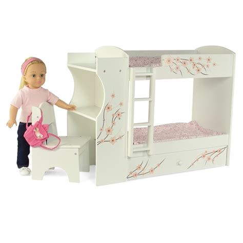 american bunk bed with desk 18 inch doll furniture bunk bed with built in desk and